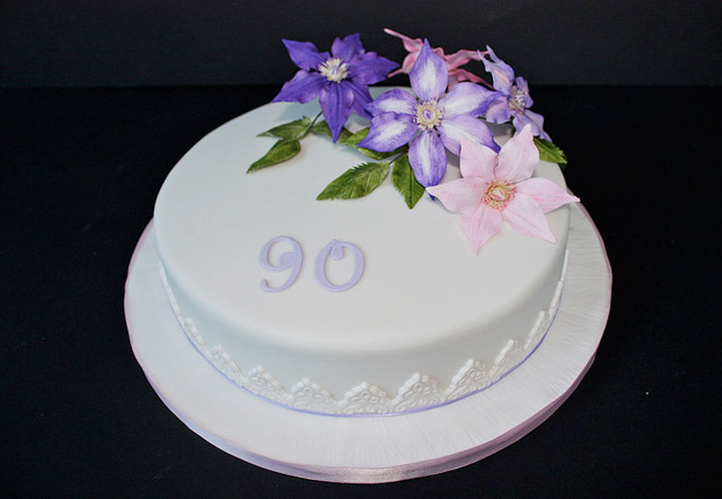 Birthday cake ideas 90th image inspiration of cake and for Anniversary cake decoration