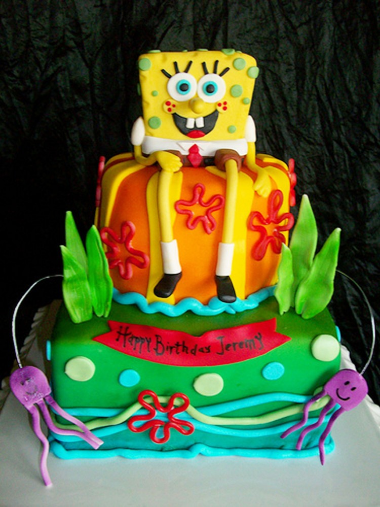 Best Spongebob Birthday Cake Picture in Birthday Cake