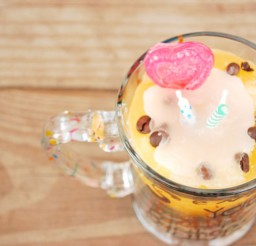 1024x686px Birthday Cake Latte Scented Candle Picture in Birthday Cake