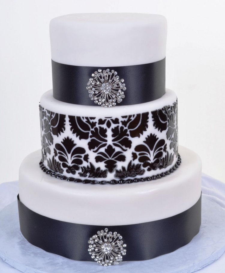 Black White Wedding Cakes Picture in Wedding Cake