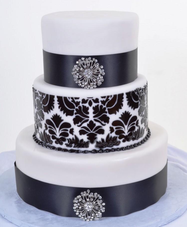Black White Wedding Cakes Picture in Wedding Cake