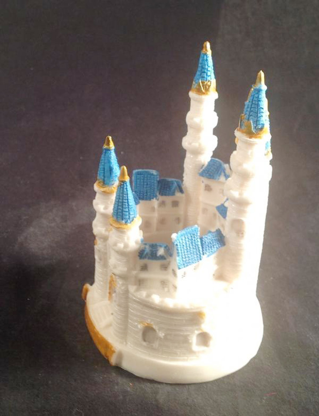 Blue Cinderella Castle Wedding Cake Toppers Picture In Wedding Cake