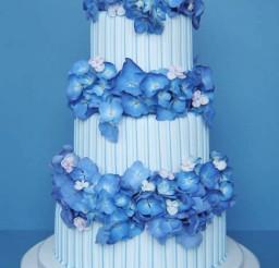 1024x1475px Blue Hydrangea Wedding Cake Picture in Wedding Cake