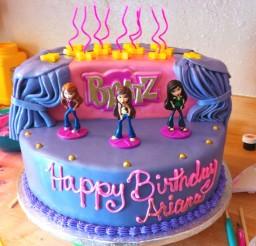 1024x1024px Bratz Birthday Cake Picture in Birthday Cake