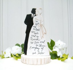 1024x1024px Bride And Groom Silhouette Wedding Cake Topper Picture in Wedding Cake