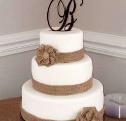1024x1815px Burlap Wedding Cake Picture in Wedding Cake