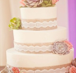 1024x1536px Burlap Wedding Cake Ideas Picture in Wedding Cake