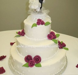 1024x1365px Buttercream Wedding Cake With Royal Icing Roses Picture in Wedding Cake