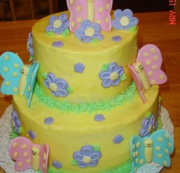 1024x1536px Butterfly Birthday Cake For A Little Girl Picture in Birthday Cake