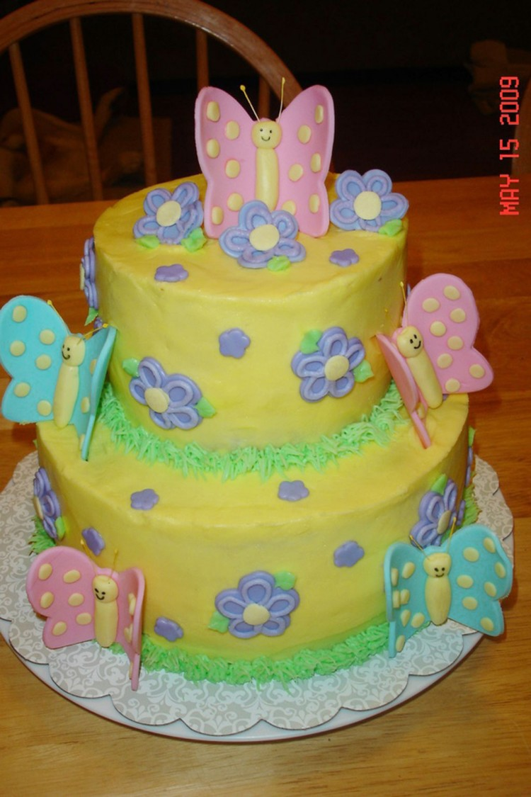 Butterfly Birthday Cake For A Little Girl Picture in Birthday Cake