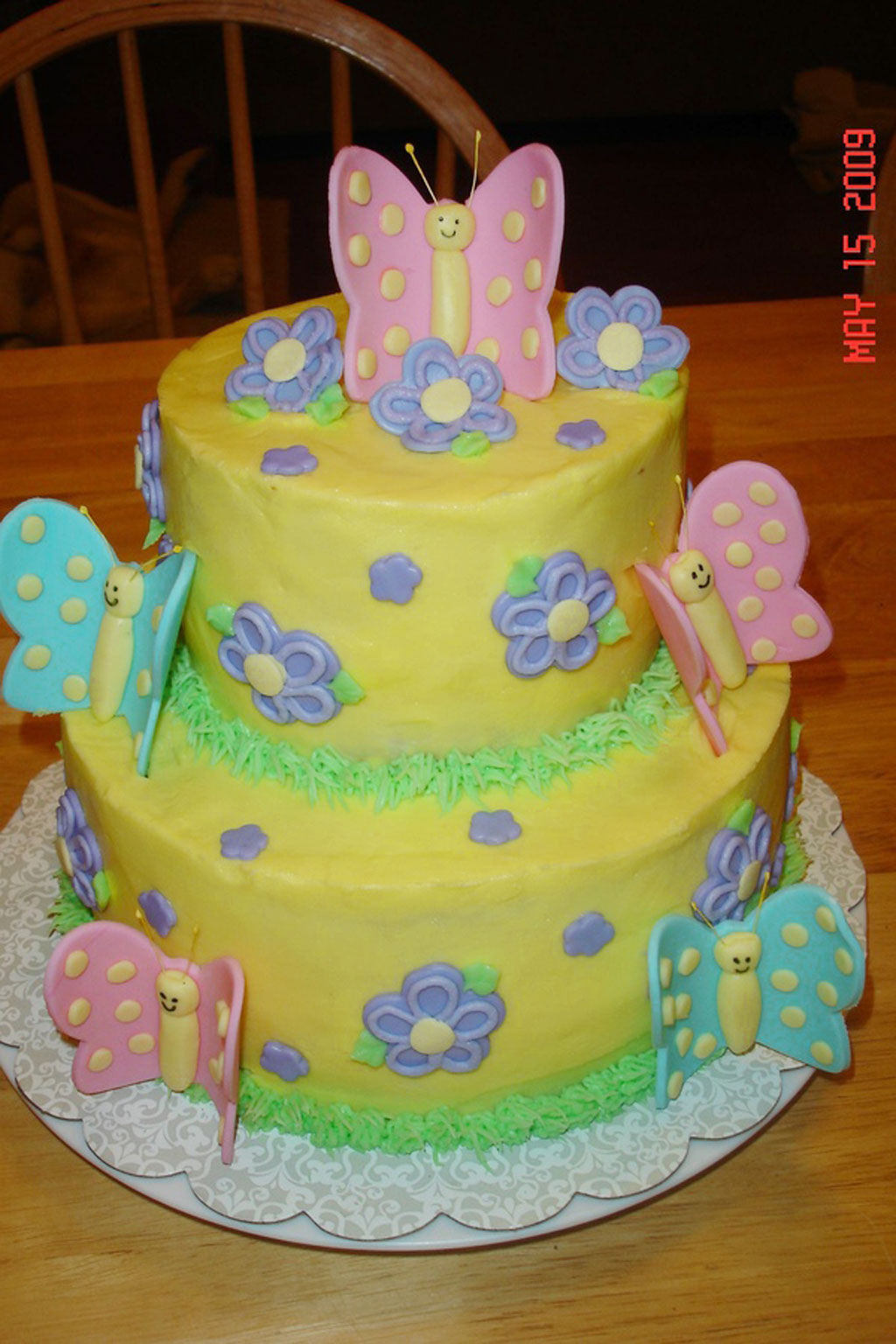 Butterfly Birthday Cake For A Little Girl Birthday Cake Cake Ideas