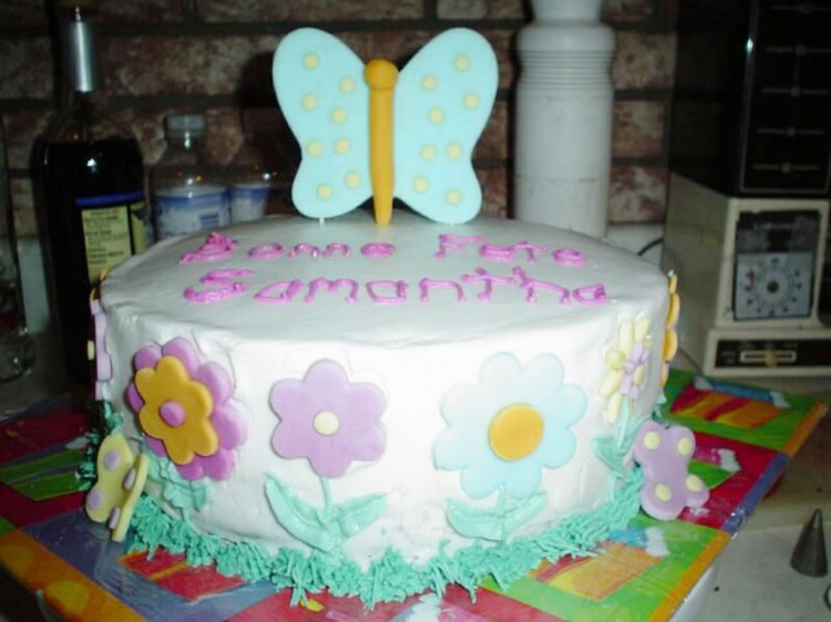 Butterfly Birthday Cake Picture in Birthday Cake