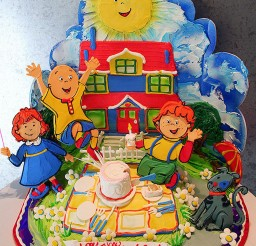 1024x1319px Caillou Birthday Cake Picture in Birthday Cake