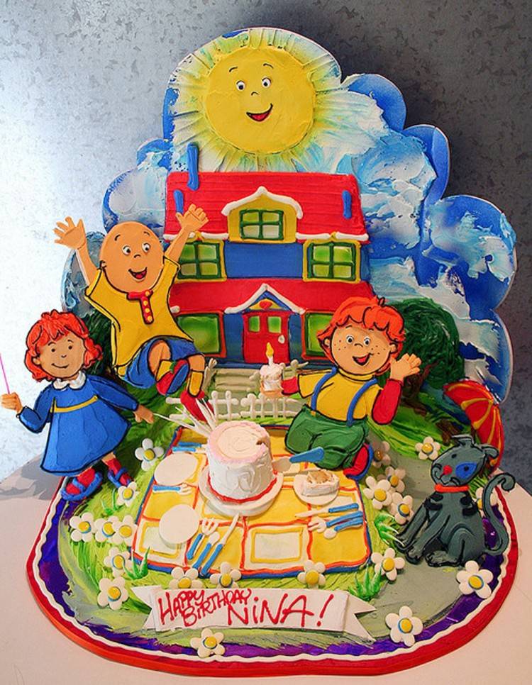 Caillou Birthday Cake Picture in Birthday Cake