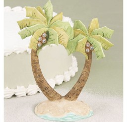1024x1024px Cake Topper Beach Wedding Palm Tree Picture in Wedding Cake