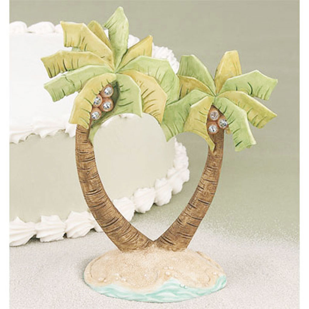 beach cake toppers wedding cakes cake topper wedding palm tree wedding cake cake 1534