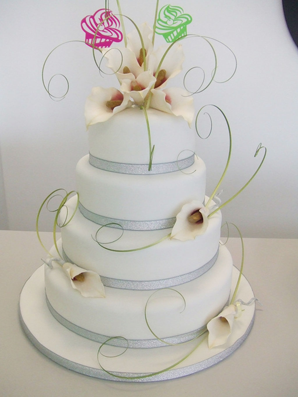 Cake Decorations For Wedding Cakes : Calla Lily Wedding Cake Ideas Wedding Cake - Cake Ideas by ...