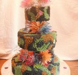 1024x1365px Camo Tie Dye Wedding Cake Picture in Wedding Cake