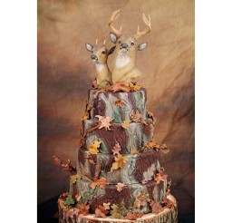 1024x1024px Camouflage Wedding Cake Picture in Wedding Cake