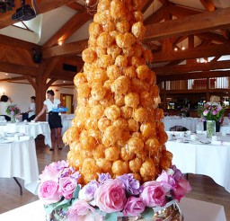1024x1365px Caramel Cream Puff French Wedding Cake Picture in Wedding Cake