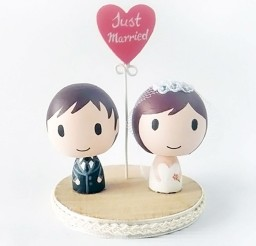 1024x1024px Cartoon Wedding Cake Topper Ideas Picture in Wedding Cake