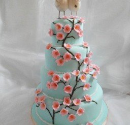 1024x1365px Cherry Blossom Wedding Cakes Picture in Wedding Cake