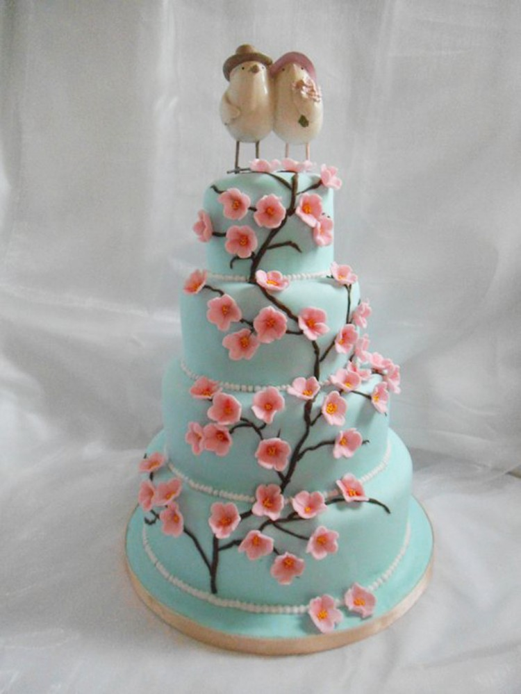 Cherry Blossom Wedding Cakes Picture in Wedding Cake