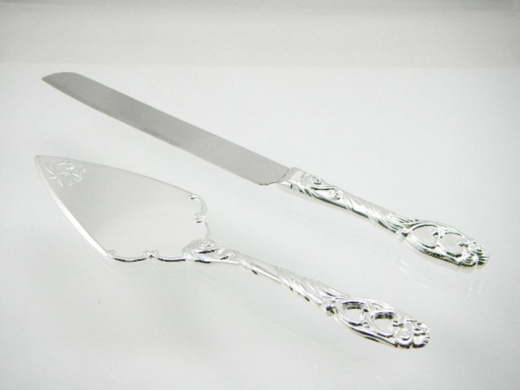 China Wedding Cake Knife And Server Set Picture in Wedding Cake