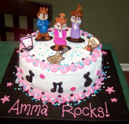 1024x768px Chipettes Birthday Cake Ideas Picture in Birthday Cake