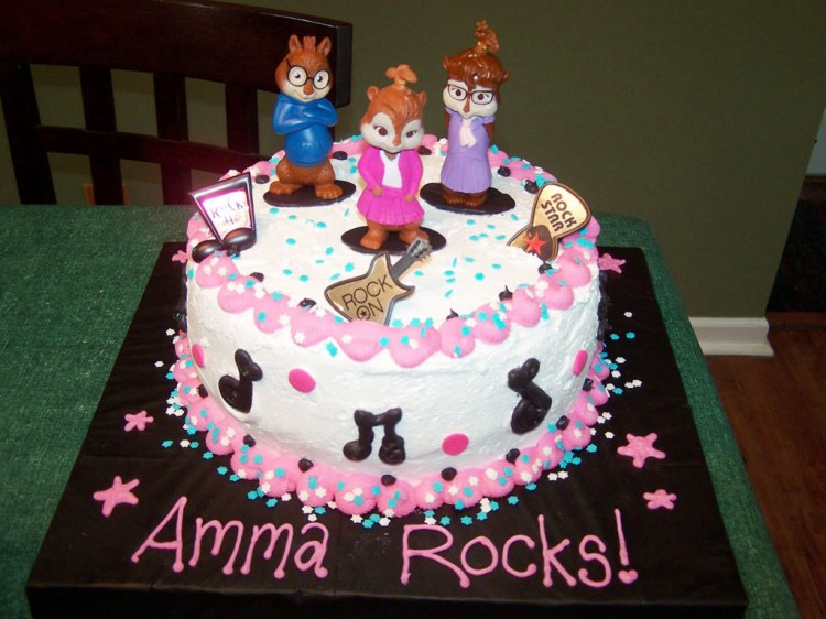 Chipettes Birthday Cake Ideas Picture in Birthday Cake