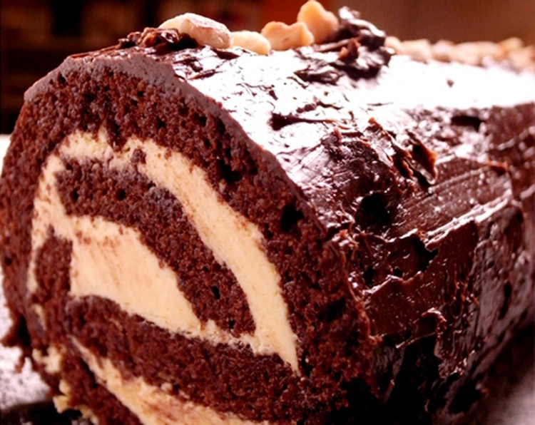 Chocolate Cake Recipe Christmas Chocolate Yule Log Picture in Chocolate Cake