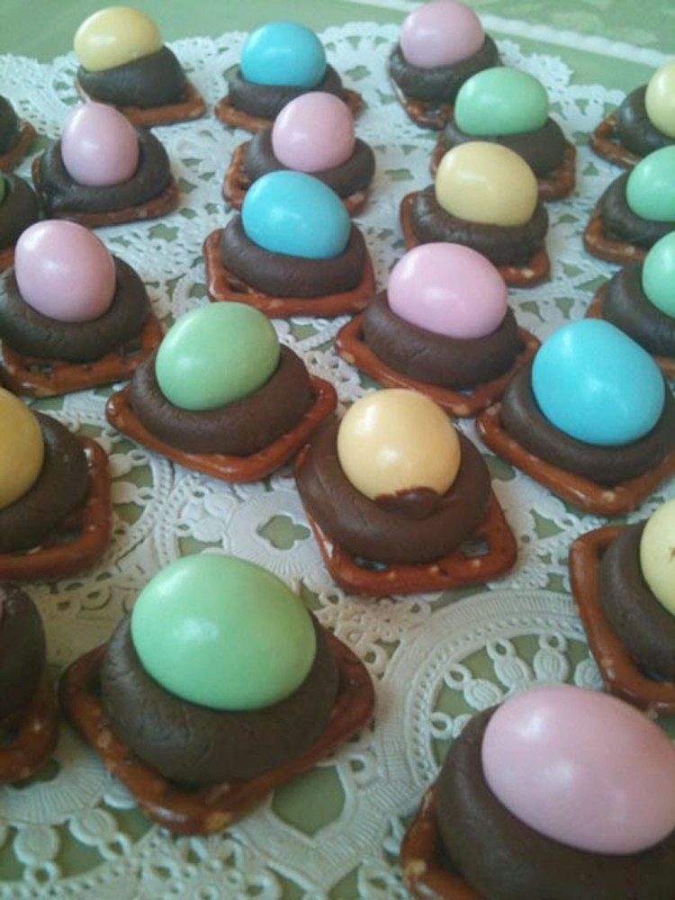Chocolate Candy Nest Great For Easter Picture in Chocolate Cake