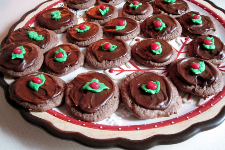 Chocolate Christmas Cookies Picture in Chocolate Cake