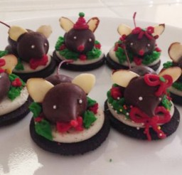 1024x620px Chocolate Christmas Mice Cookies Picture in Chocolate Cake