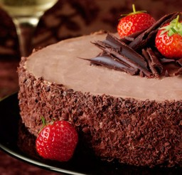 1024x678px Chocolate Christmas Dessert With Strowberry Picture in Chocolate Cake