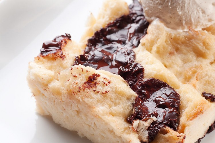 Chocolate Chunk Bread Pudding Picture in Chocolate Cake