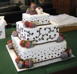 1024x887px Chocolate Covered Strawberry Wedding Cake Picture in Wedding Cake