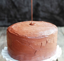 1024x1536px Chocolate Drenched Peanut Butter Buckeye Cake Picture in Chocolate Cake