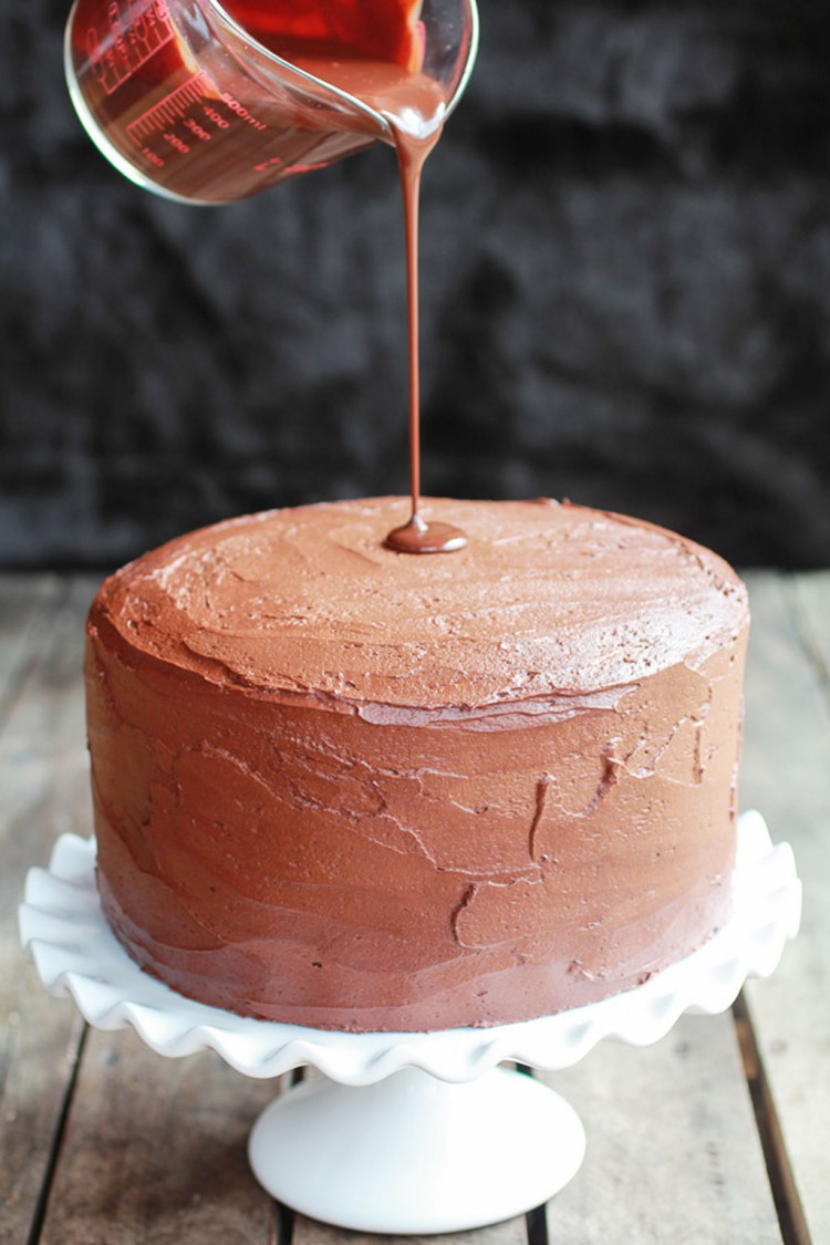 Chocolate Drenched Peanut Butter Buckeye Cake Picture in Chocolate Cake