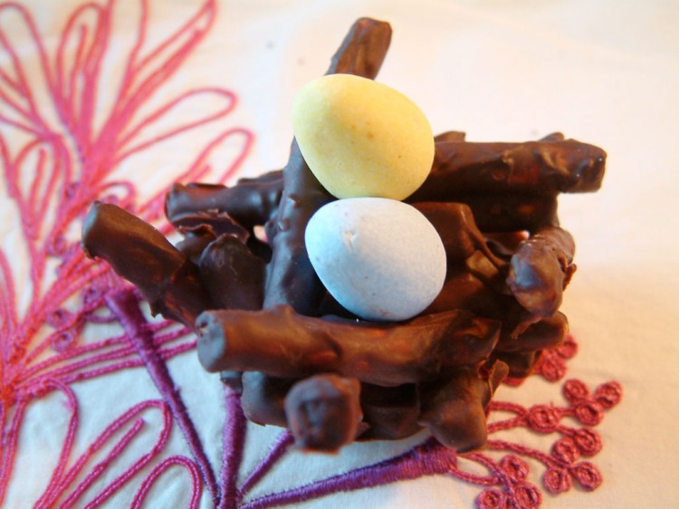 Chocolate Easter Baskets Picture in Chocolate Cake