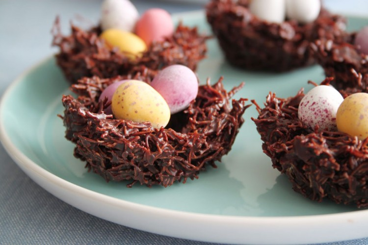 Chocolate Easter Nests Picture in Chocolate Cake
