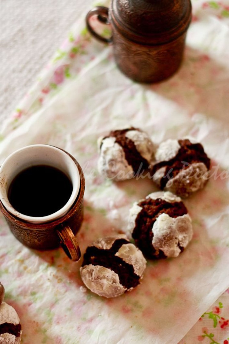 Chocolate Hazelnut Crinkle Cookies Picture in Chocolate Cake