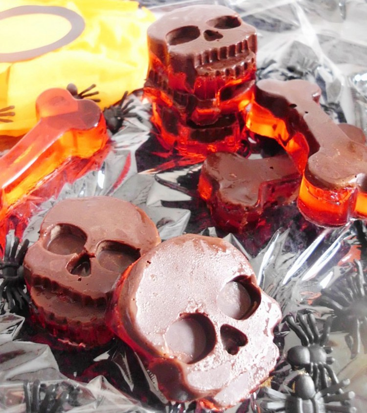 Chocolate Jello Halloween Candy Picture in Chocolate Cake