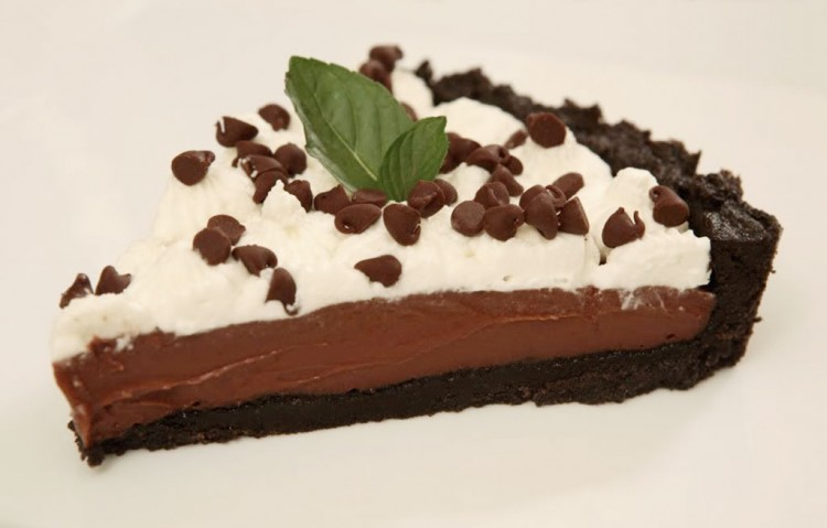 Chocolate Pudding Cream Pie Picture in Chocolate Cake