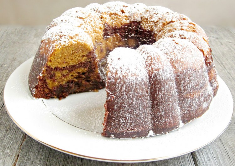 Chocolate Pumpkin Bundt Cake Picture in Chocolate Cake