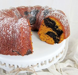 1024x1365px Chocolate Swirl Pumpkin Bundt Cake Picture in Chocolate Cake