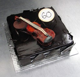 1024x1024px Chocolate Violin Birthday Cake Picture in Birthday Cake