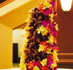 1024x1529px Chocolate And Flower Lithuanian Wedding Cake Picture in Wedding Cake