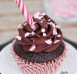 1024x1536px Chocolate Candy Cane Cupcake Picture in Chocolate Cake