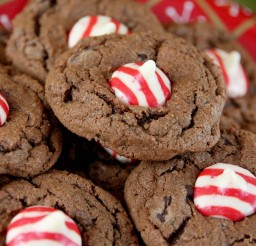 1024x1024px Chocolate Candy Cane Kiss Cookies Picture in Chocolate Cake